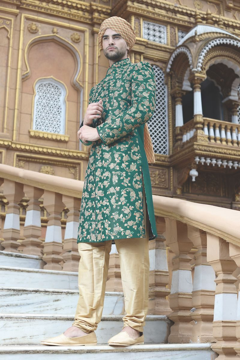 Image result for Classic Printed Sherwani